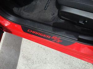 Dodge Charger  SXT Vinyl Door Sill Decals 2011-2019 v6 3.6 Rallye.