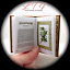 THE LANGUAGE Of FLOWERS Illustrated Readable Book 1:3 Scale Miniature Book AG