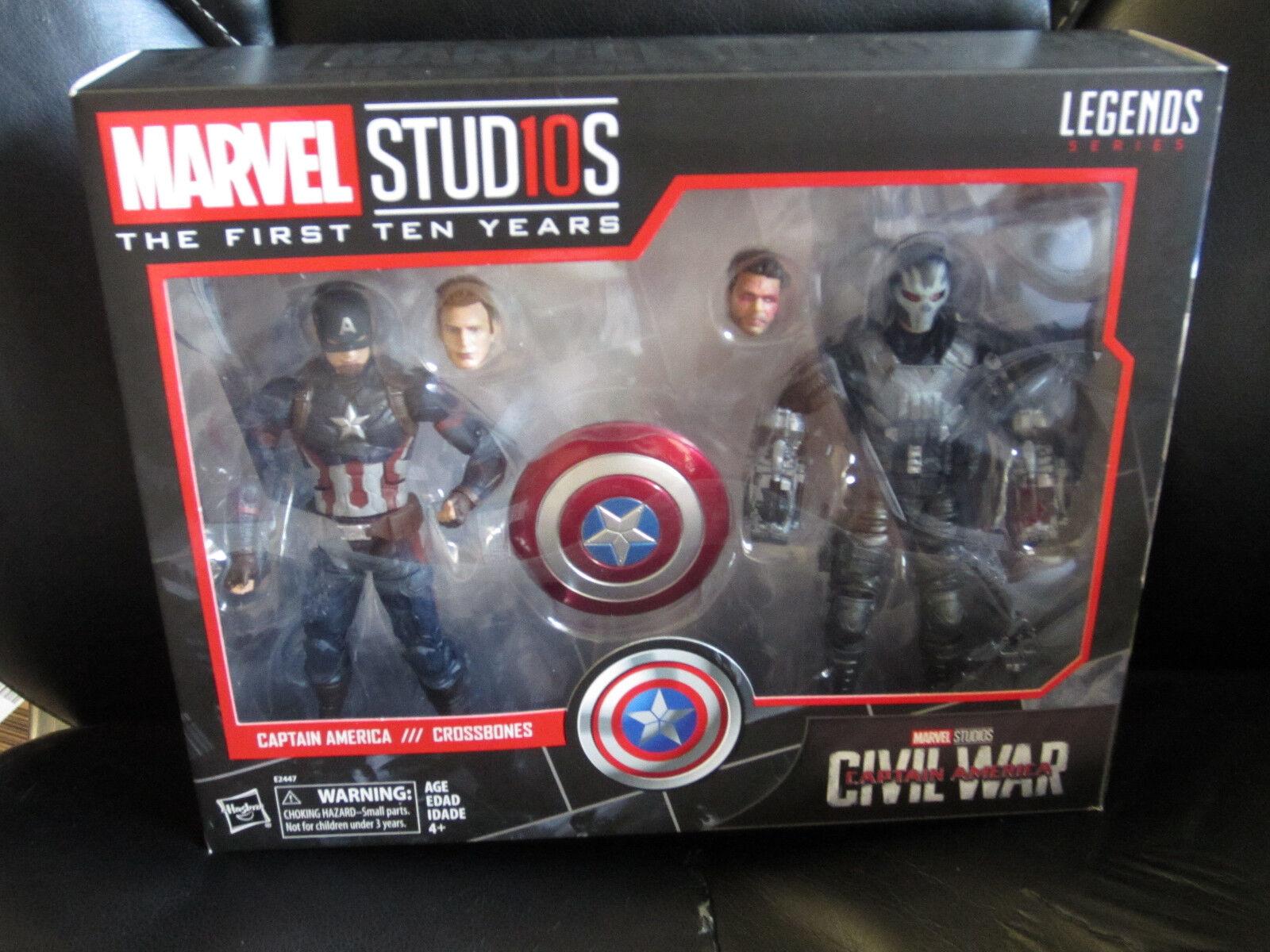 Marvel Legends 6  MCU Studios First Ten Years Captain America Crossbones Sealed