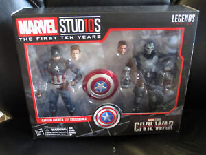 "Marvel Legends 6/"" MCU Studios the First Ten Years Captain America Civil War New"