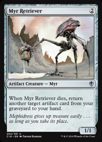 Artifact Creature Unc MYR RETRIEVER NM mtg Commander 2016 Grey
