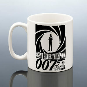 Image Is Loading JAMES BOND MUG PERSONALISED AGENT 007 Birthday Gift