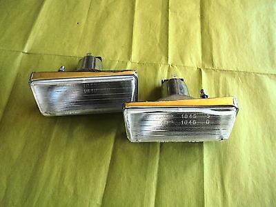 2 feu Clignotant Fanali Seat Fiat 124 Piloto Light Lente Blinker Metal