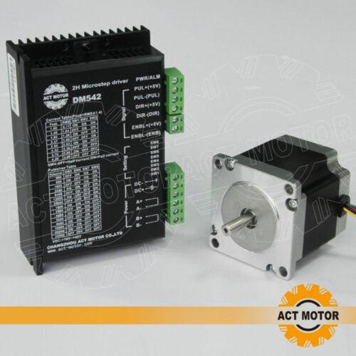1PC Nema23 Stepper Motor 23HS6430 3A 56mm 1.1Nm φ 6.35mm 1PC Driver DM542 4A
