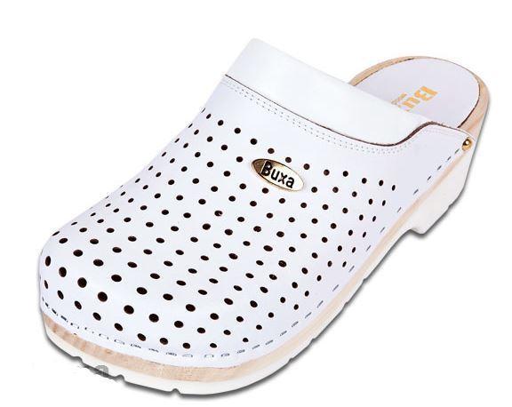 Damens  Wooden medical Leder clogs Weiß FPU11   Weiß clogs color   US Schuhe Größe bc2e4a
