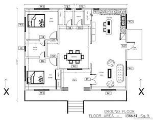 Modern Tiny House Home Building Plans 2 Bedroom 2 Bathroom Free Cad File Ebay