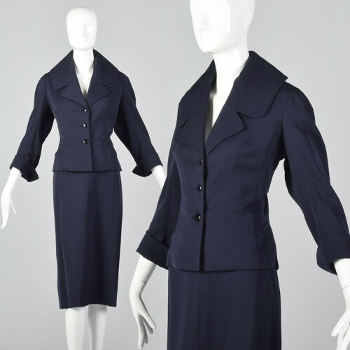 M 1950s Jean Dessès MFC Sunningdale Shop Navy Blue