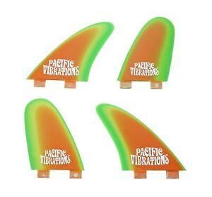 PACIFIC VIBRATIONS surfboard Fins FCS Controller QUAD template Fiberglass