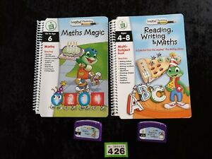 Leapfrog-books-Cartridges-PLUS-WRITING-maths-magic-reading-write-maths-vgc