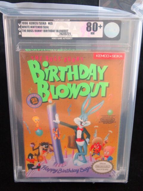 1990 THE BUGS BUNNY BIRTHDAY BLOWOUT NES VIDEO GAME NIB GRADED VGA 80+ NM RARE