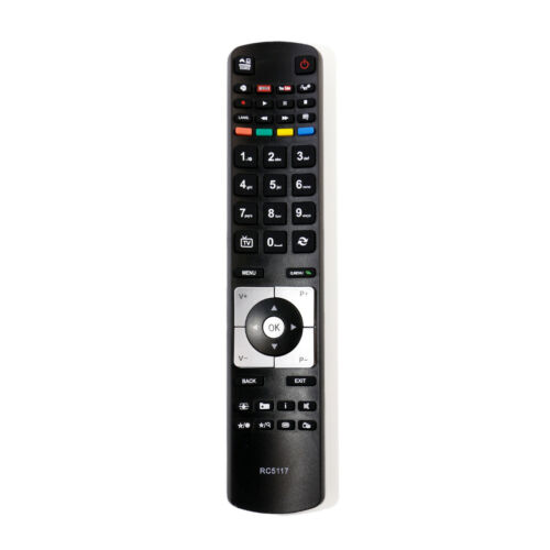 RC-5117 Fernbedienung für Hitachi TV 48HBT62U 50HYT62UH JVC LT-39C740 Lt 50c74