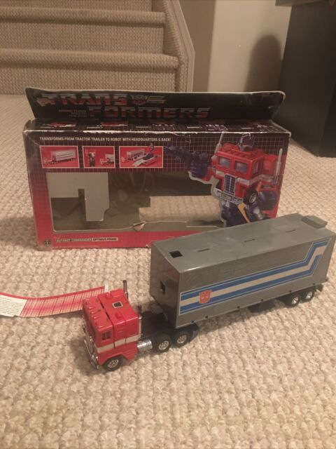 Transformers G1 Optimus Prime With Box