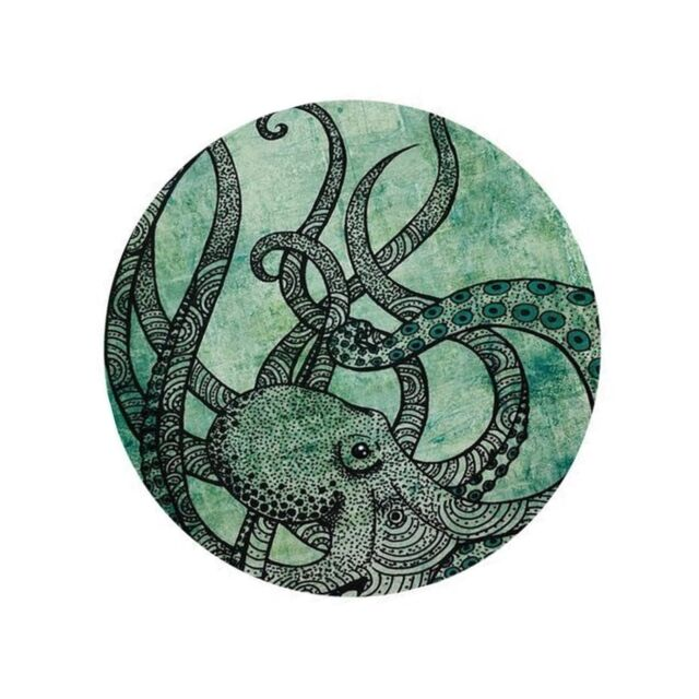cool octopus color mouse pads printed mousepad round non slip rubber