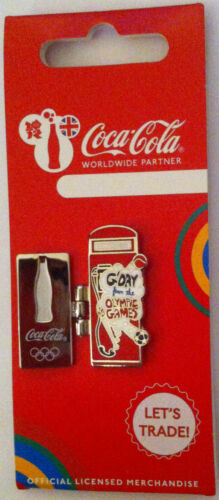 LONDON 2012 OLYMPICS COCA COLA WELCOME TO THE GAMES PIN AUSTRALIA TELEPHONE BOX