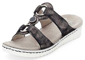 RIEKER Damen Trekking Sandale FEDERLEICHT jeansblau 2x KLETT