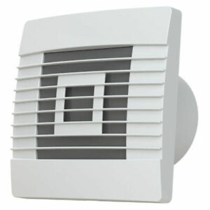 Bathroom Extractor Fan with Gravity Flaps Shutter White ...