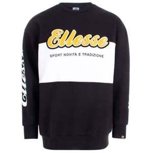 Ellesse-Nannino-Cotton-Oversized-Black-Sweatshirt