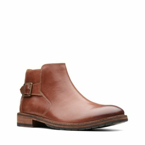 Clarks Para hombre botas De Cuero Bronceado Oscuro clarkdale Remi 26136571