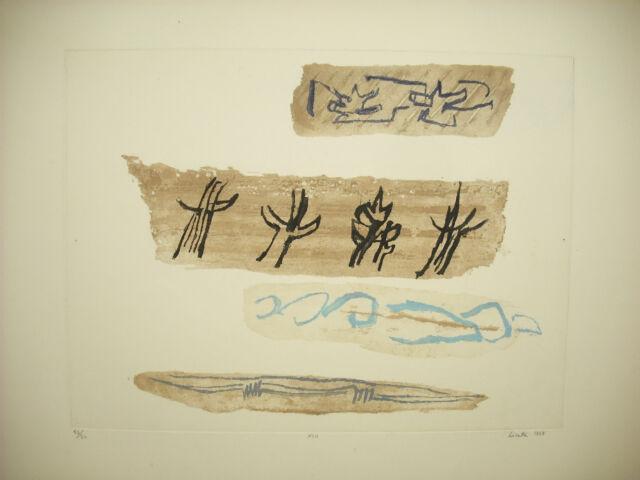 Riccardo LICATA (1929-2014) print of 1959 43 / 50 art abstract Venice Italy
