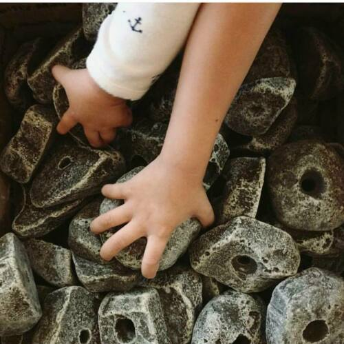 100 LARGE KIDS Bolt on Rock Climbing Holds with Hardware