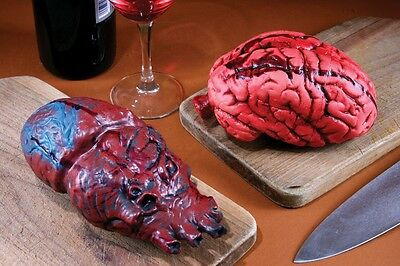 Creepy Horror Realistic VITAL ORGAN PARTS Rubber Heart or Brain Halloween Decora