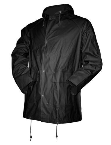 ASATEX PU pioggia STRETCH Giacca Uomo Outdoor Tempo Libero Giacca Pioggia Nero