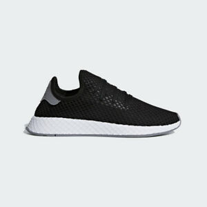 Image is loading Adidas-Originals-Deerupt-Runner-Black-White-Mens-Lifestyle- 37fea2bfb593f