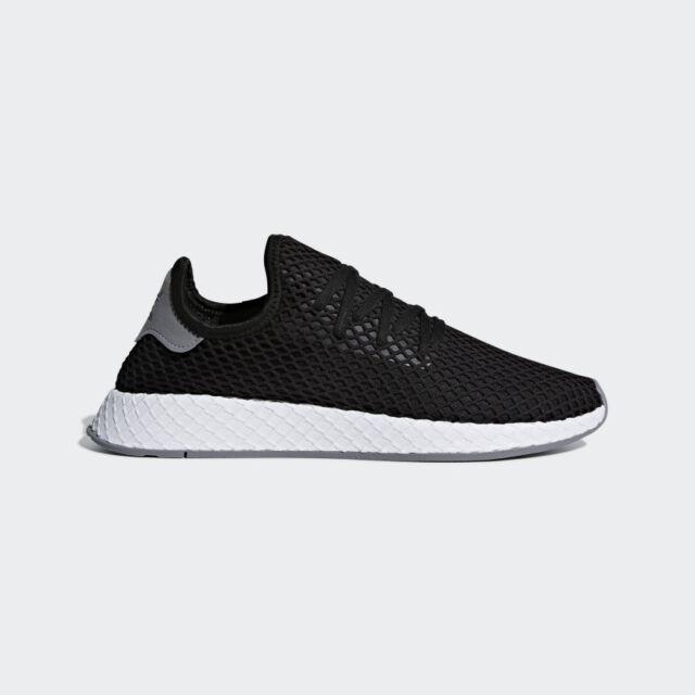 Mens Adidas Originals Deerupt Runner Shoes In Cloud White Black