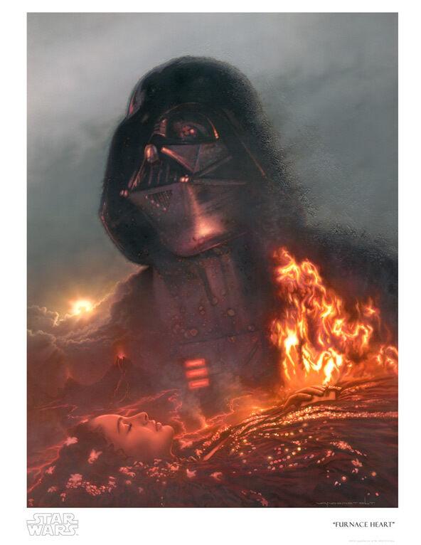 Anakin Skywalker Padmé Death Darth Vader Postmodern Star Wars Art Giclée Paper