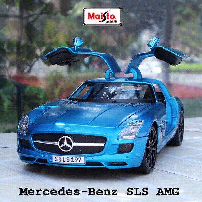 Maisto auto Diecast modello Mercedes-Benz SLS AMG in 1 18 Scala Matteo Blu