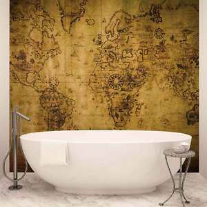 Wall mural photo wallpaper xxl sepia world map vintage 3600ws ebay image is loading wall mural photo wallpaper xxl sepia world map gumiabroncs Gallery