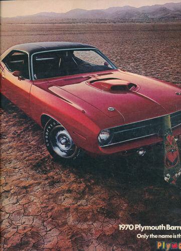 1970 Plymouth Barracuda Hemi and Cuda Original Dealer Sales Brochure