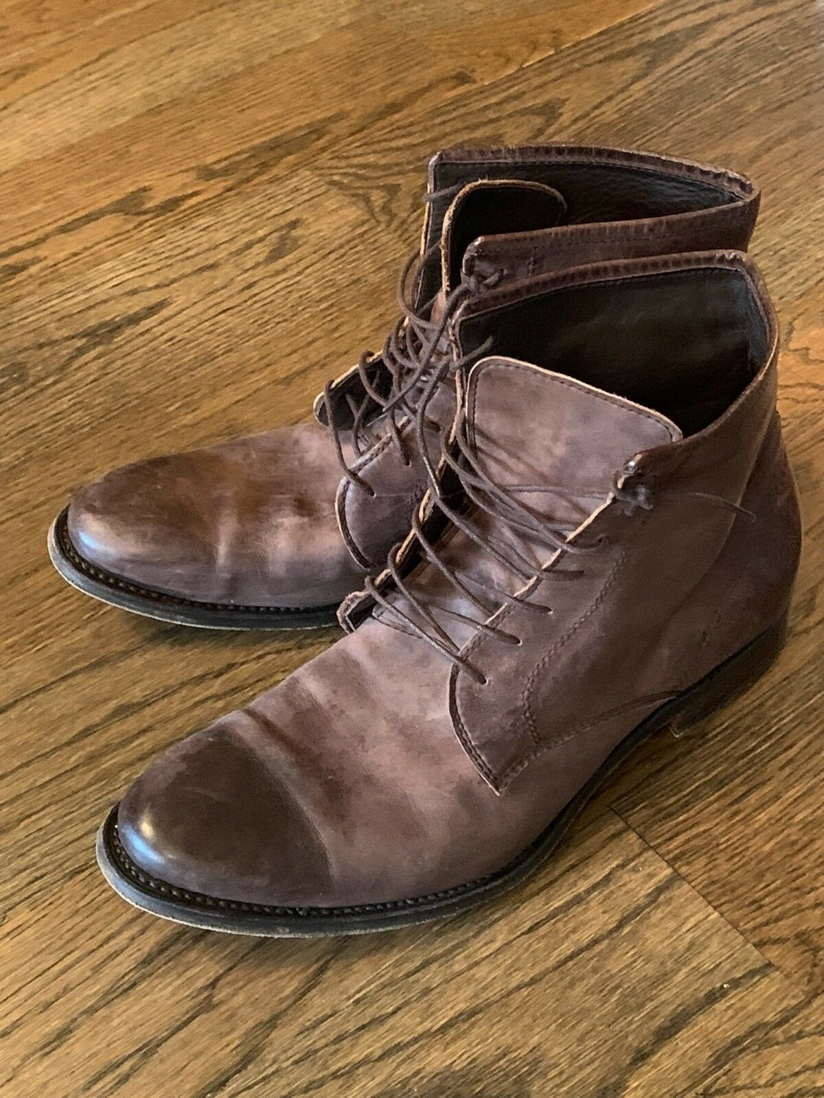 Men's NDC Made By Hand  Leather Ankle Boots shoes 42 US 9