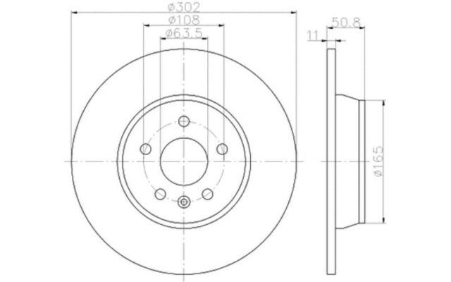 TEXTAR Juego de 2 discos freno Trasero 302mm FORD MONDEO FOCUS 92159303
