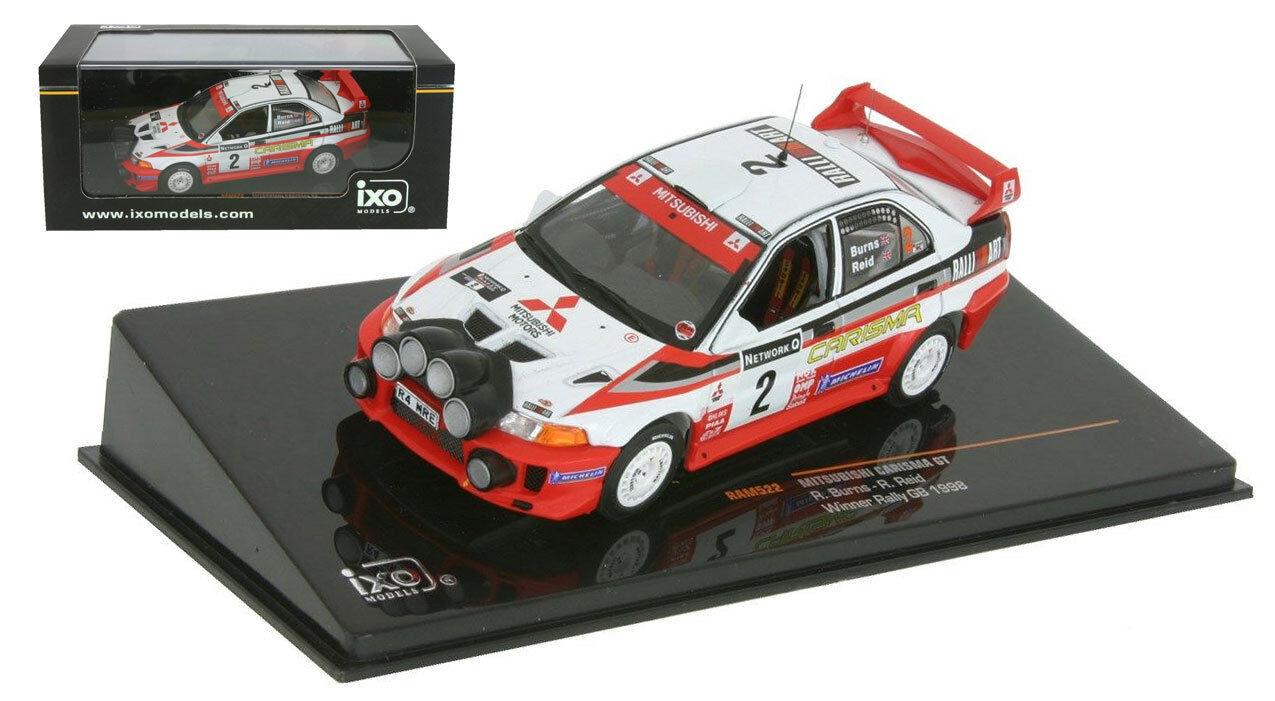 IXO ram522 Mitsubishi Carisma GT vincitore rallygb 1998-Richard Burns SCALA 1/43