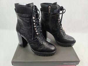 Ermania Black Leather Platform Lace-Up