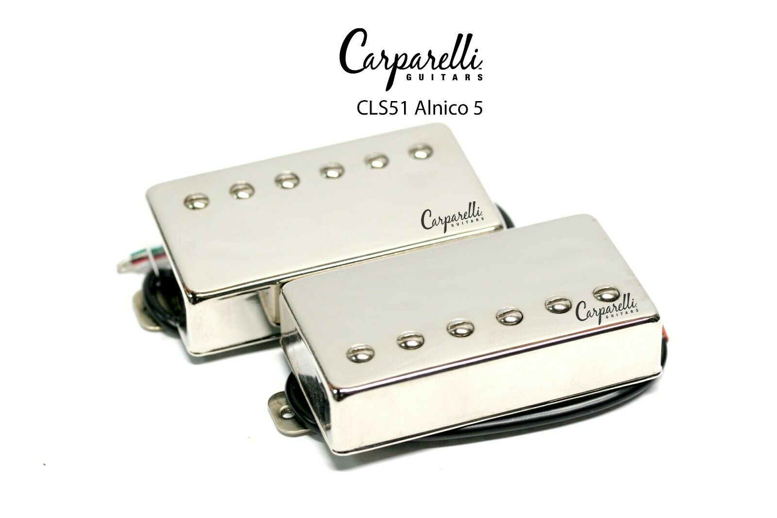 Carparelli CLS51 Alnico 5 Vintage Nickel Humbucker Set Neck Bridge