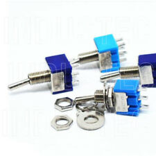 1 2 Position Dpdt Mini Toggle Switch On On 6 Pins Lug 125v Ac 6a Guitar Auto