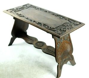 pl4964 Mild And Mellow Antique Carved Oak Refectory Coffee Side Table
