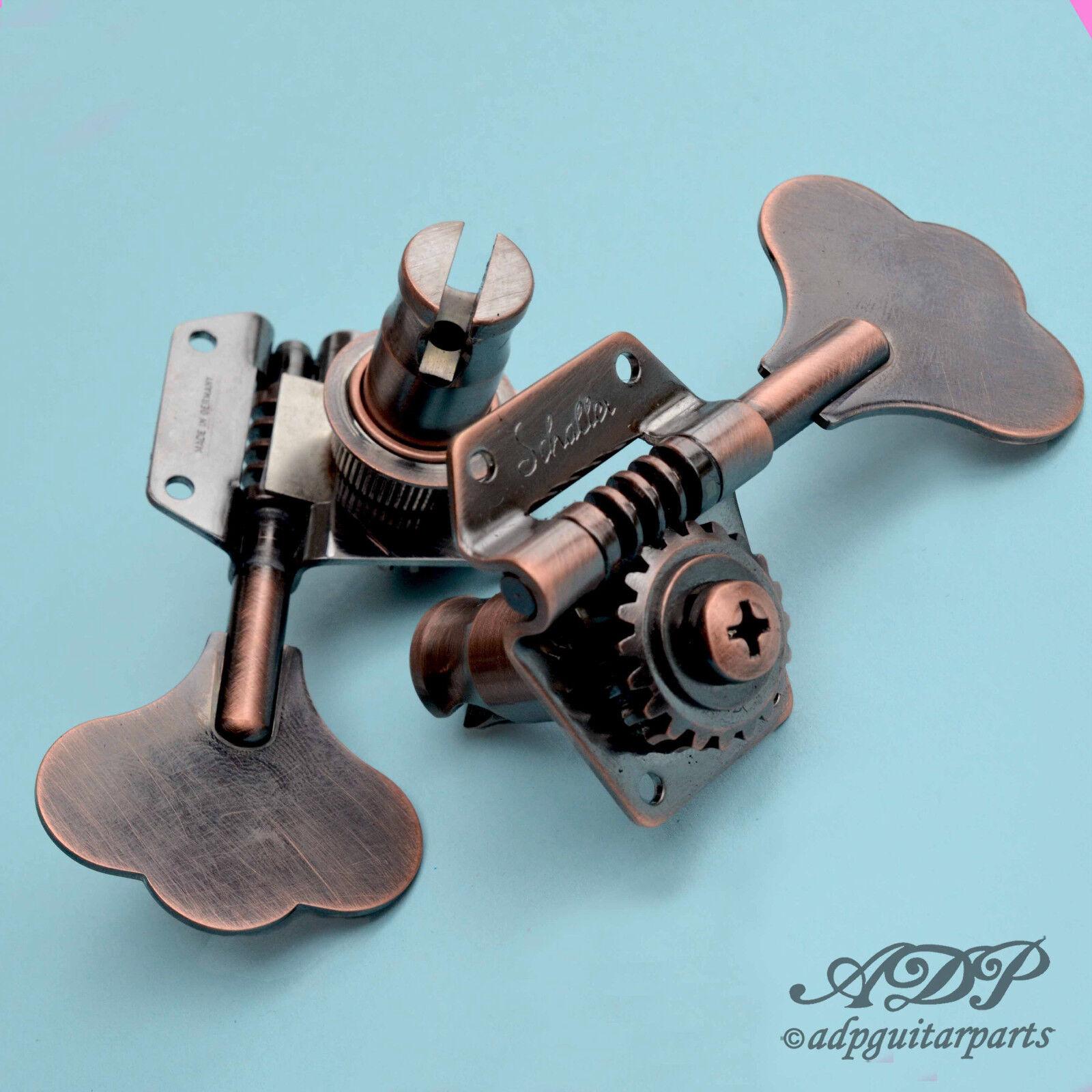 Mecaniques Schaller Basse BM Reverse L R P-J Bass MusicMan Tuners Vintage Copper