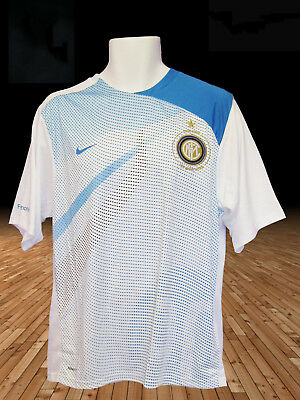 quality design decaa f0af7 New NIKE INTER MILAN FOOTBALL Training Pre Match Shirt White Turquoise  Large 883419120985 | eBay