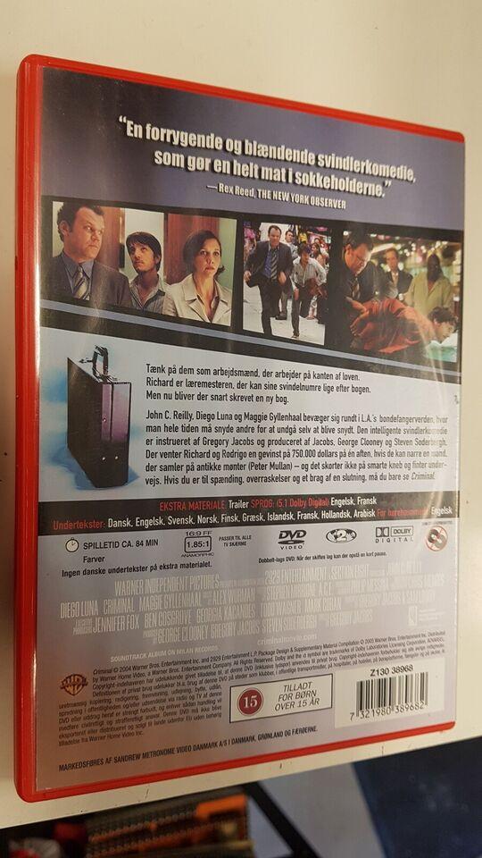 Criminal, DVD, komedie