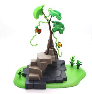 Playmobil Fels mit Versteck Baum Liane Affenbaum Dschungel Wild Lile 5416