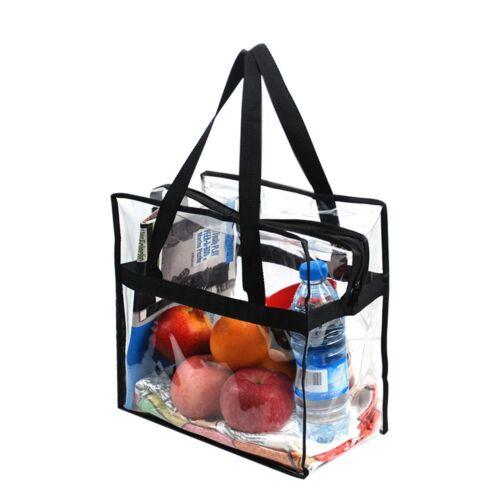 Work.. Women Transparent Pvc Handbag Clear Plastic Tote Bag Perfect For Stadium