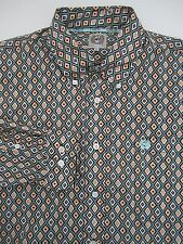 Mens M medium Cinch southwestern multi color western button down shirt