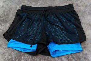 Détails sur C9 Champion Femme Small Athletic Black Mesh Short Bleu souligner court afficher le titre d'origine
