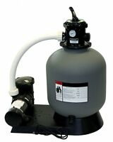 24 Inground Sand Filter System With 1 Hp Pump - 300 Lb Sand Capacity