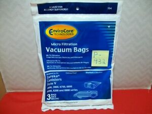 3-BRAND NEW ENVIROCARE TECHNOLOGIES CANISTER VACUUM CLEANER BAGS IN SEALED PKG