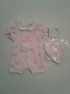 Premature tiny baby girls clothes baby grow hat set 3-5 lbs 5-8 lbs