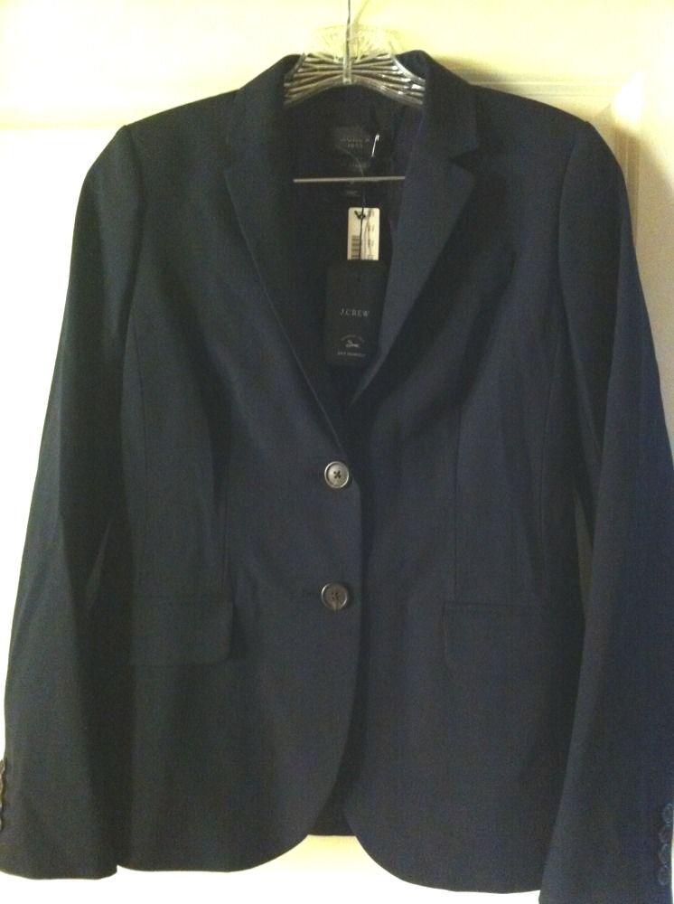 J CREW CREW CREW 2 Blazer 1035 Italian Stretch Wool 95961 Navy NWT  288 5d1e4a